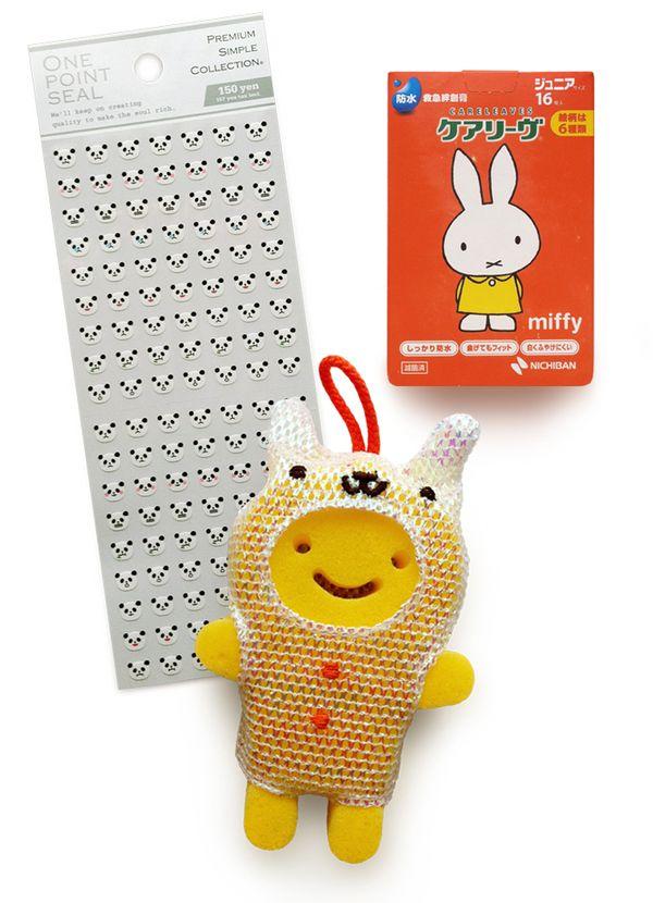 Stickers.bandaids.sponge